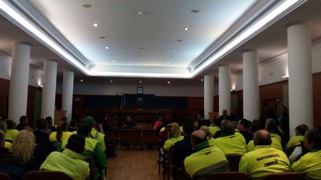 Asamblea de trabajadores del servicio de limipieza