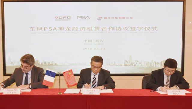 Acuerdo para nueva empresa de renting y leasing en China