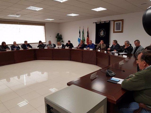 Pleno extraordinario Ayuntamiento de Manilva Mario Jiménez tras muerte de joven
