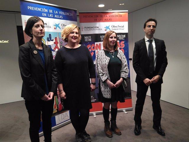 Representantes de la asociación, CaixaBank y Fundación CAN