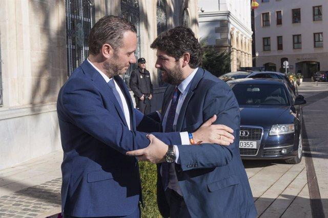 López Miras y Joaquín Segado en toma posesión presidente Autoridad Portuaria