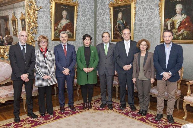 Solana Junto A Los Máximos Responsables De Las Universidades De Navarra