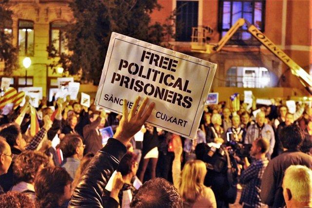 Manifestación presos políticos, foto de archivo