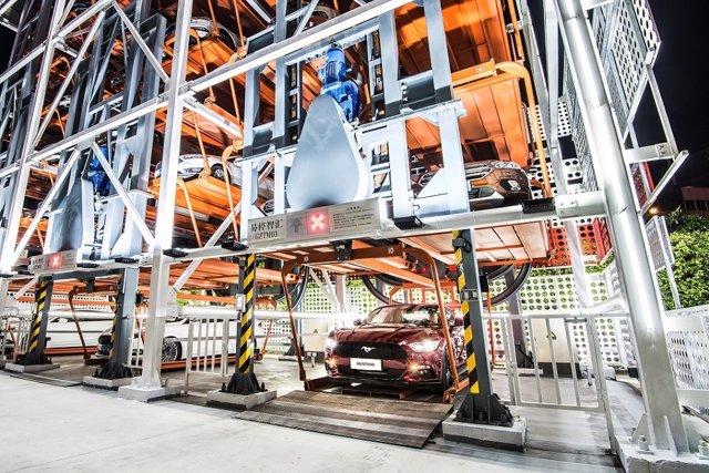 Máquina expendedora de coches de Ford y Alibaba
