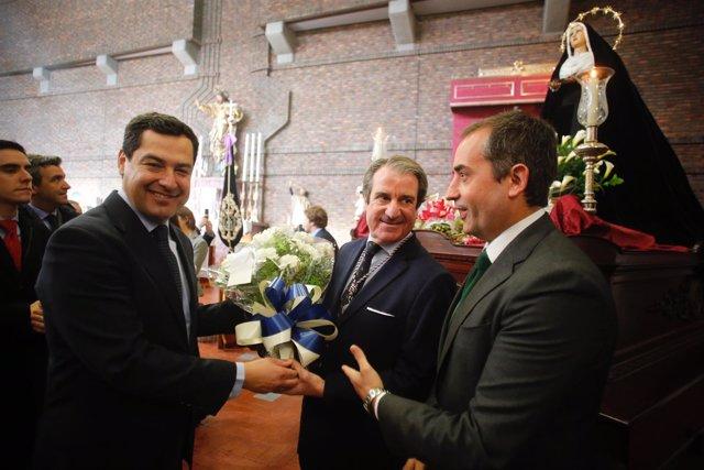 Juanma Moreno, este lunes en la Semana Santa de Jerez