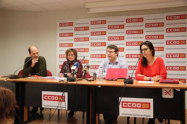 Presentación del acuerdo este lunes en Zaragoza.