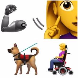 Emoji de persoas con discapacidad de Apple