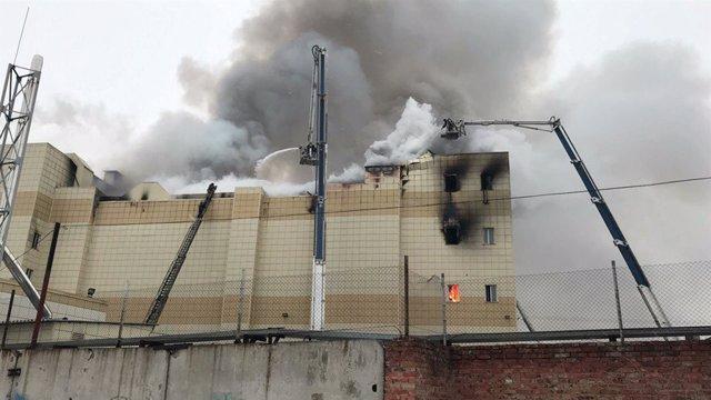 Incendio en Kemerovo (Siberia)
