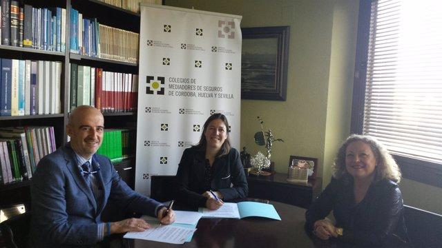 Firma del acuerdo entre Liberty Seguros y los Colegios de Mediadores de Seguros