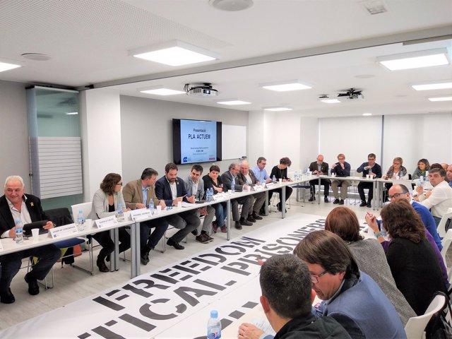 Josep Maria Servera (pte.AMI) David Saldoni (pte.ACM) con sus ejecutivas
