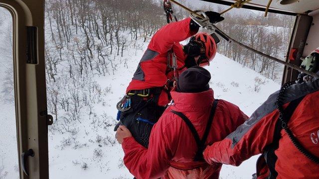 Rescate del helicóptero en Picos de Europa