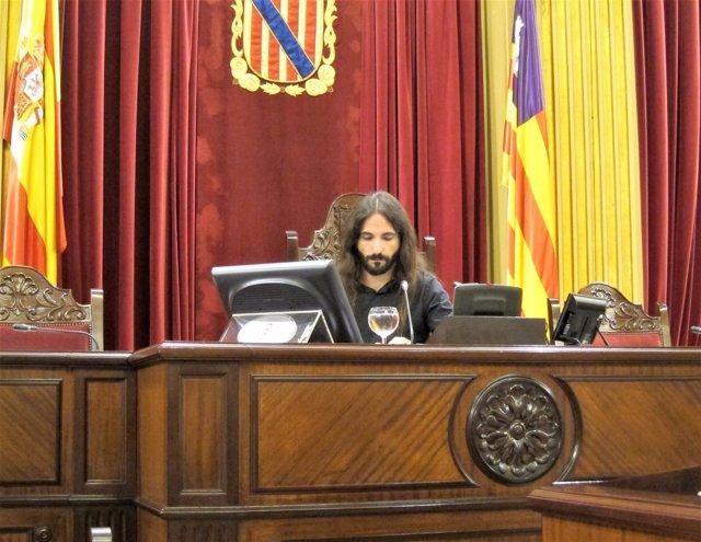 El presidente del Parlament, Baltasar Picornell
