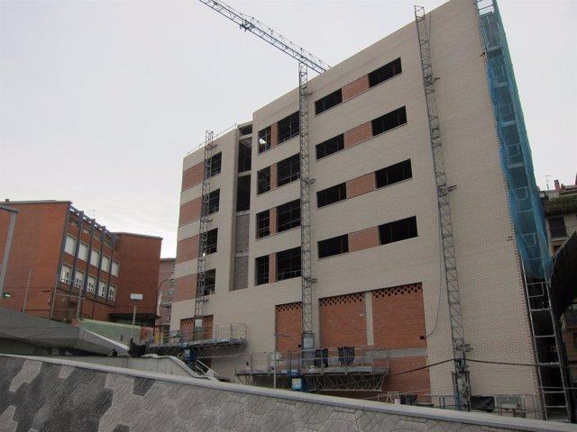 Foto de archivo de un edificio en construcción