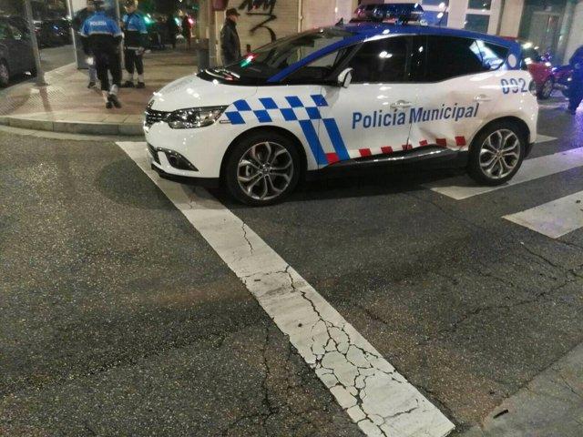 Imagen del vehículo de la Policía siniestrado 27/03/2018