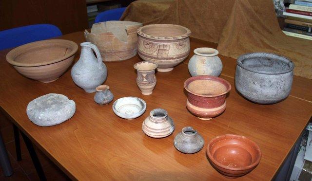 Imagen de las piezas arqueológicas recuperadas