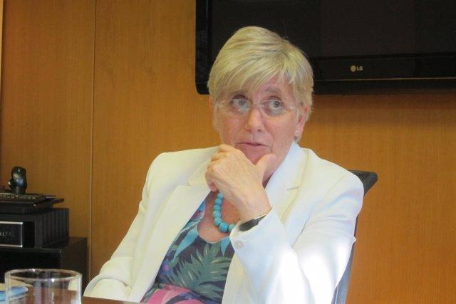 La consellera de Enseñanza, Clara Ponsatí (ARCHIVO)