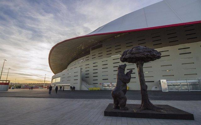 Estatua oso madroño Wanda Metropolitano