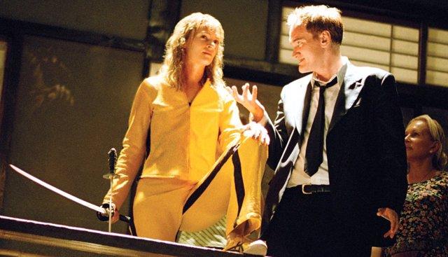 Quentin Tarantino en el rodaje de Kill Bill