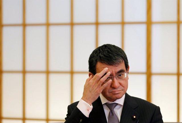 El ministro de Exteriores japonés, Taro Kono.