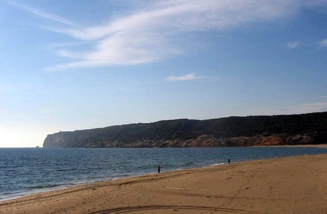 Playa de La Hierbabuena donde se celebra el Festival Cabo de Plata
