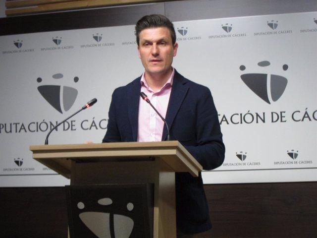 Fernando García Nicolas, portavoz de la Diputación de Cáceres