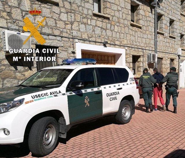El prófugo en el momento de la detención 27-3-2018