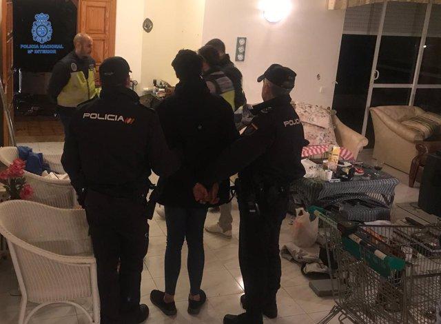 Momento del arresto