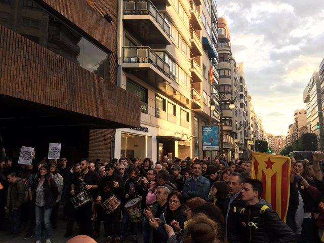 """Manifestación en València por la """"libertad de los presos políticos"""""""