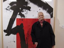 Luis Feito ha inaugurado hoy una exposición con su obra gráfica en Fuendetodos
