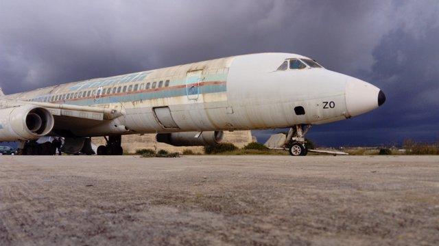 El avión Coronado lleva casi 30 años en Son Sant Joan tras la quiebra de Spantax