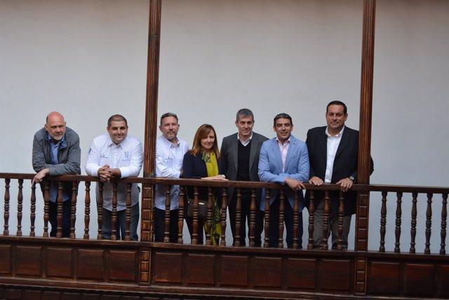 Fernando Clavijo y Albert Adrià en la Casa Principal de Salazar