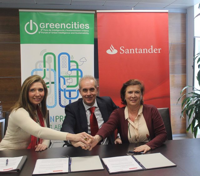 Convenio entre Greencities y el Banco Santander