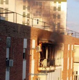 Incendio de vivienda en Sevilla