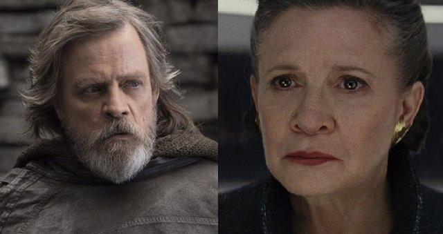 Luke Skywalker y Leia en The Last Jedi