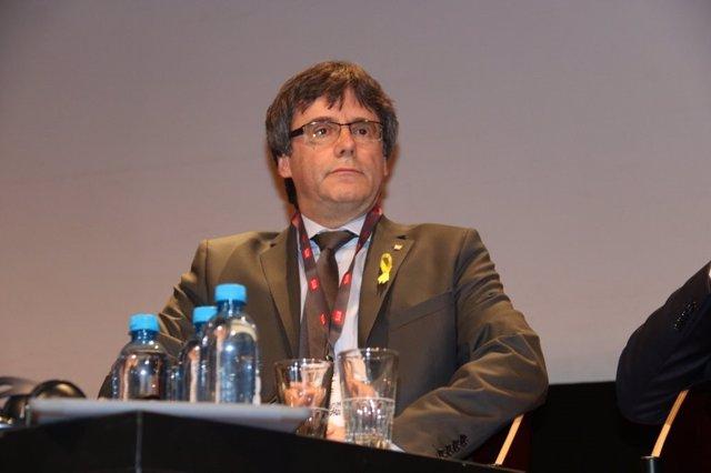 El expresidente de la Generalitat Carles Puigdemont (ARCHIVO)