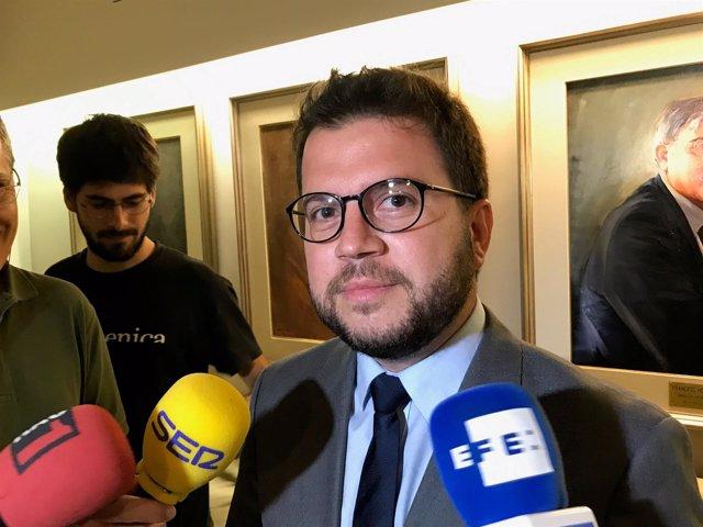 Pere Aragonès en una foto de archivo