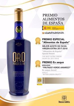 El Aceite de Oliva Virgen Extra 'Parqueoliva Serie Oro'