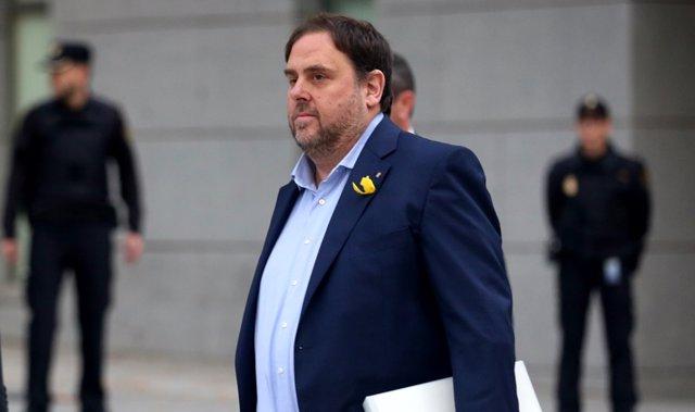 Foto de archivo de Junqueras a su llegada a la Audiencia Nacional