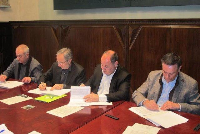 Josep Orive, Josep Mayoral, Francesc Colomé e Ignasi Simón / ARCHIVO