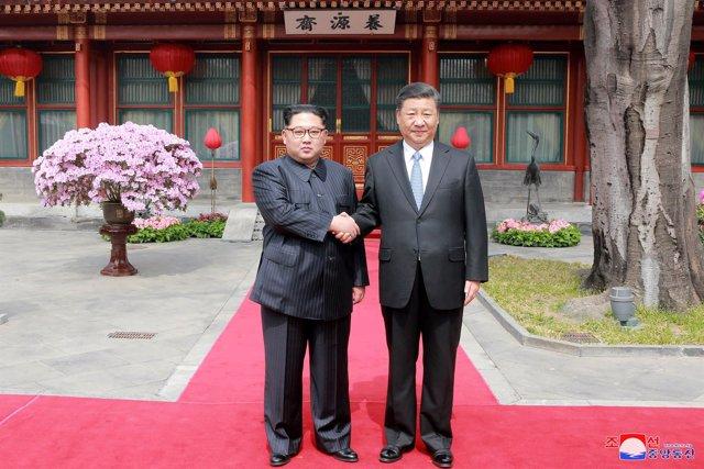 Encuentro de Kim Jong Un y Xi Jinping en Pekín