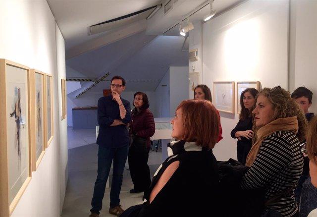 Visita guiada a la exposición de Araceli Reverte en el Muram de Cartagena