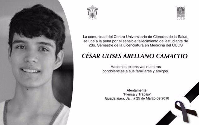 Estudiante fallecido en México