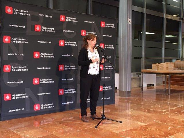 Laia Ortiz en el Ayuntamiento
