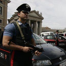 Un agente de los Carabinieri