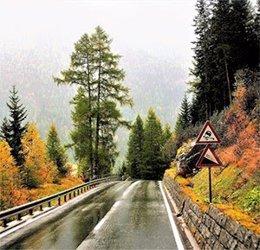 Carretera con lluvia
