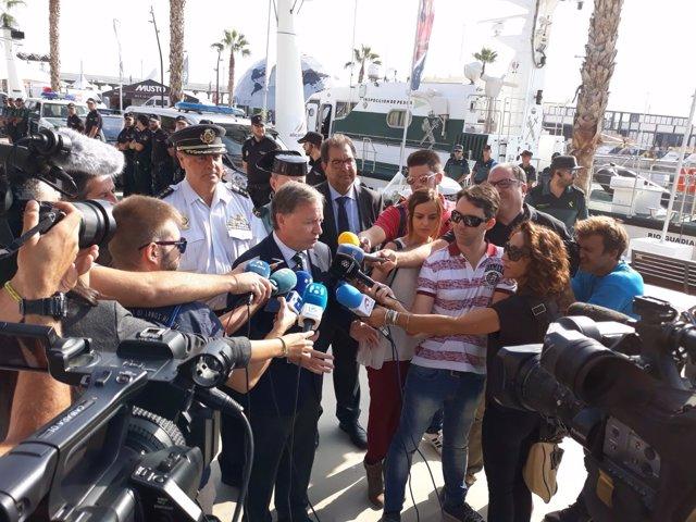 Juan Carlos Moragues atiende a los mediosen imagen de archivo