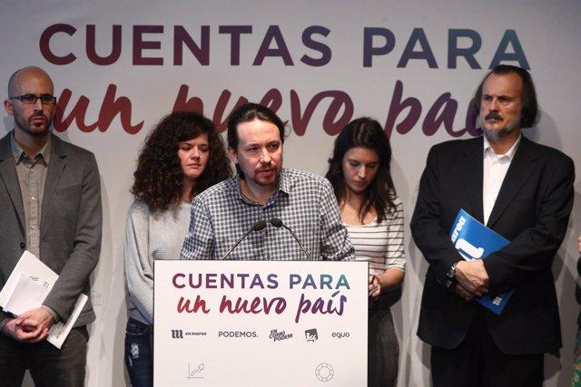 Pablo Iglesias presenta una alternativa a los Presupuestos Generales del Estado