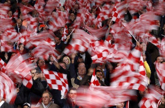 Hinchas del PSV Eindhoven en una imagen de archivo