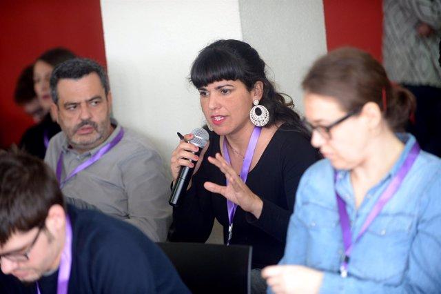 Teresa Rodríguez, secretaria general de Podemos en Andalucía, en el CCE