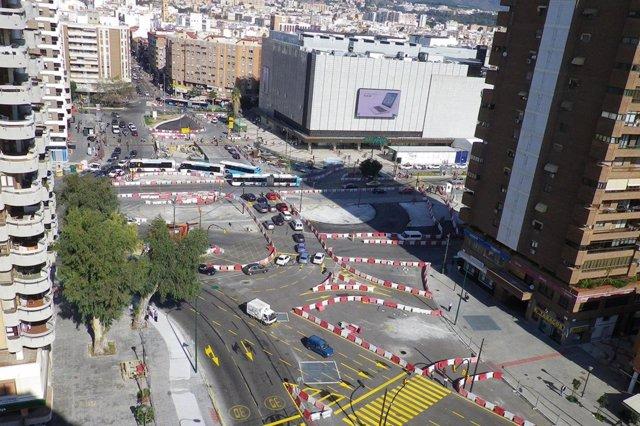 Desvios de Málaga tramo del metro Renfe-Guadalmedina,